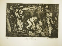 Salford II Bridge Builders (etching and aquatint)